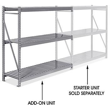 """Add-On Unit for Bulk Storage Rack - Steel Decking, 72 x 24 x 72"""" H-8567"""