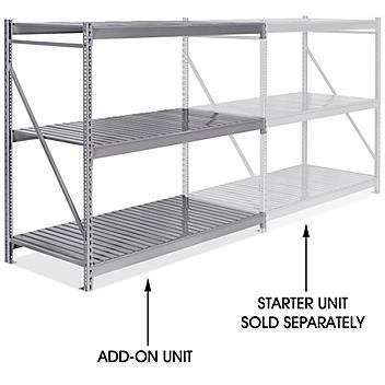 """Add-On Unit for Bulk Storage Rack - Steel Decking, 72 x 36 x 72"""" H-8568"""