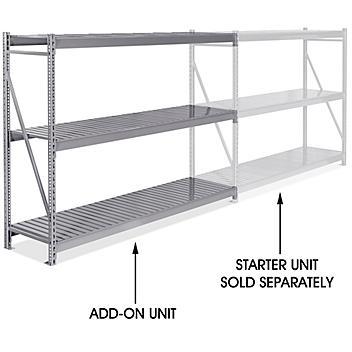 """Add-On Unit for Bulk Storage Rack - Steel Decking, 96 x 24 x 72"""" H-8569"""