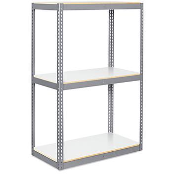 "Wide Span Storage Rack - Laminate Board, 48 x 24 x 72"" H-8598"