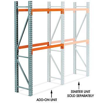 "Add-On Unit for 2 Shelf Pallet Rack - 48 x 24 x 96"" H-8610-ADD"