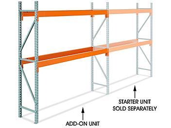 "Add-On Unit for 2 Shelf Pallet Rack - 96 x 24 x 96"" H-8611-ADD"