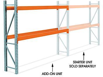 "Add-On Unit for 2 Shelf Pallet Rack - 120 x 24 x 96"" H-8613-ADD"
