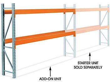 "Add-On Unit for 2 Shelf Pallet Rack - 144 x 24 x 96"" H-8614-ADD"