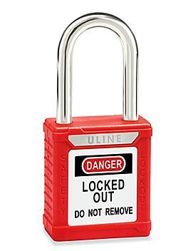 "Uline Lockout Padlock - Keyed Different, 1 1/2"" Shackle"