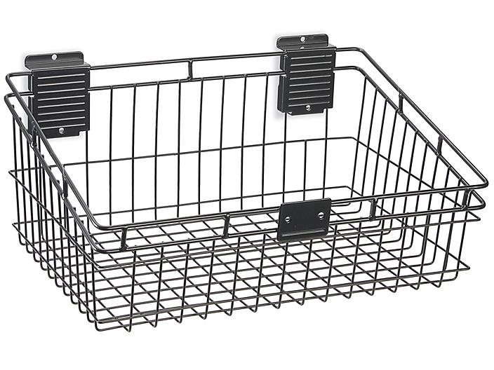 """Wire Basket for Industrial Slatwall - 18 x 13 x 8"""" H-8746"""
