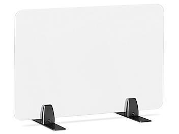 "Desktop Privacy Panel - Freestanding, 24 x 15"", Black Brackets H-8867F-BL"