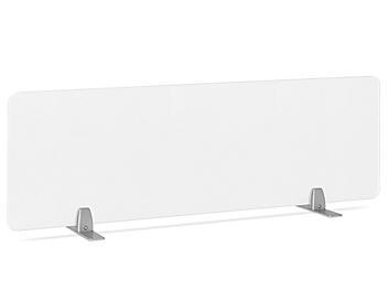 "Desktop Privacy Panel - Freestanding, 48 x 15"", Silver Brackets H-8868F-SIL"