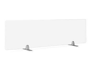 "Desktop Privacy Panel - Freestanding, 60 x 15"", Silver Brackets H-8869F-SIL"