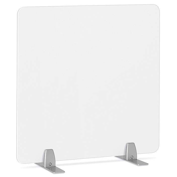 "Desktop Privacy Panel - Freestanding, 24 x 24"", Silver Brackets H-8871F-SIL"