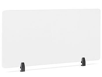 "Desktop Privacy Panel - Clamp-On, 48 x 24"", Black Brackets H-8872C-BL"