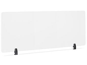 "Desktop Privacy Panel - Clamp-On, 60 x 24"", Black Brackets H-8873C-BL"