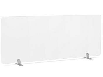 "Desktop Privacy Panel - Freestanding, 60 x 24"", Silver Brackets H-8873F-SIL"