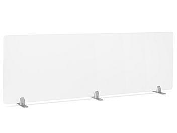 "Desktop Privacy Panel - Freestanding, 72 x 24"", Silver Brackets H-8874F-SIL"