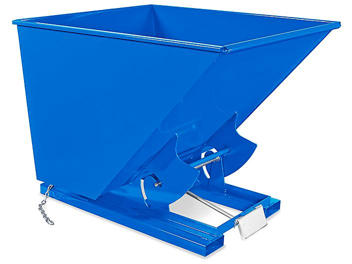 Quick Release Steel Dumping Hopper - 2 Cubic Yard, Blue H-8929BLU