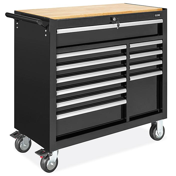 Uline Tool Cabinet - 11 Drawer, Black H-8947BL