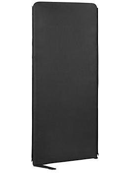 "Zippered Office Panel - 30 x 72"", Black H-8956BL"