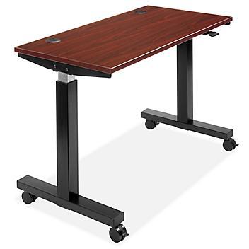 "Adjustable Height Training Table - 48 x 24"", Mahogany H-8970MAH"