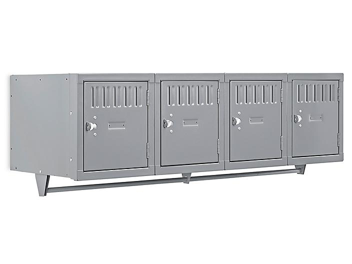 Wall-Mount Lockers - Single Tier, 4 Wide