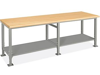 """Heavy-Duty Packing Table - 96 x 30"""", Maple Top H-9004-MAP"""