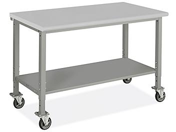 """Mobile Heavy-Duty Packing Table - 60 x 30"""", Laminate Top H-9005-LAM"""