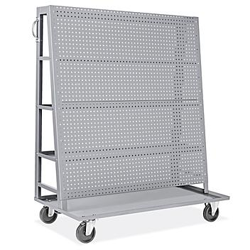 """Pegboard Cart with Shelves - 51 x 57 x 24"""" H-9013"""