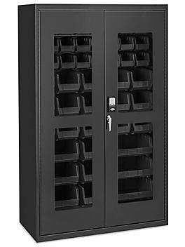 "Access Control Cabinet - 48 x 24 x 78"", 48 Black Bins H-9015BL"