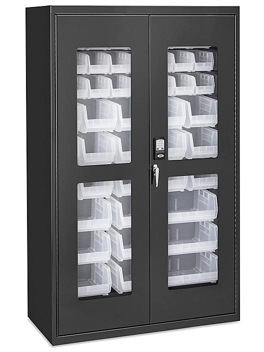 """Access Control Cabinet - 48 x 24 x 78"""", 48 Clear Bins H-9015C"""