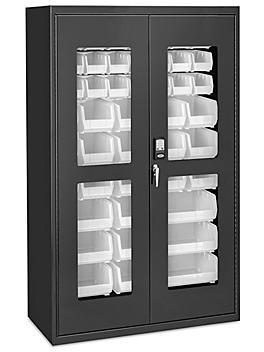 "Access Control Cabinet - 48 x 24 x 78"", 48 White Bins H-9015W"