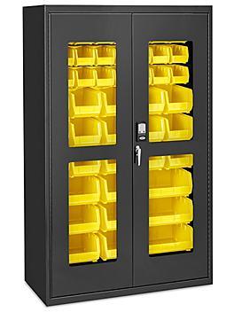 "Access Control Cabinet - 48 x 24 x 78"", 48 Yellow Bins H-9015Y"