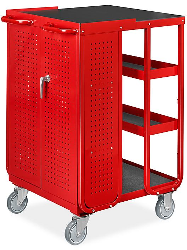 Uline Receiving Cart - Red H-9022R
