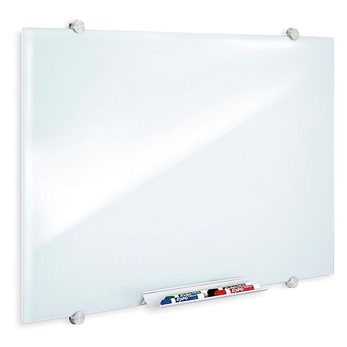 Magnetic Glass Dry Erase Board - White, 3 x 2' H-9023
