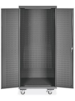 "Mobile Bin Storage Cabinet - Empty, 36 x 24 x 84"" H-9053"