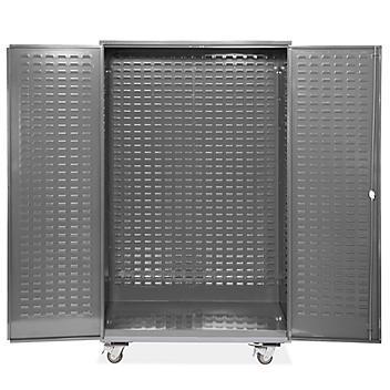 "Mobile Bin Storage Cabinet - Empty, 48 x 24 x 84"" H-9054"