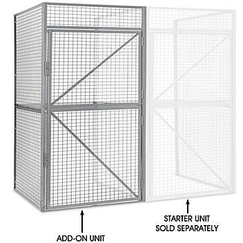 "Add-On Unit for Bulk Storage Locker - Double Tier, 1 Wide, Unassembled, 48"" Wide, 36"" Deep H-9059-ADD"