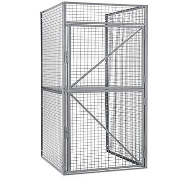 "Bulk Storage Locker Starter Unit - Double Tier, 1 Wide, Unassembled, 48"" Wide, 36"" Deep H-9059"