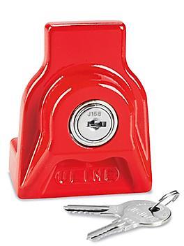 Metal Trailer Lock - Keyed Alike, Red H-907R
