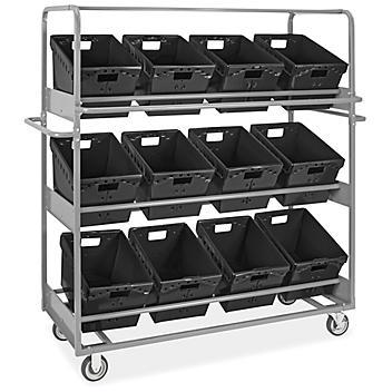 "Tote Picking Cart - 18 x 13 x 12"" Black Totes H-9094BL"