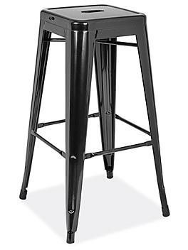 """Industrial Metal Stools - 30"""", Black H-9103BL"""