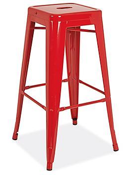 """Industrial Metal Stools - 30"""", Red H-9103R"""