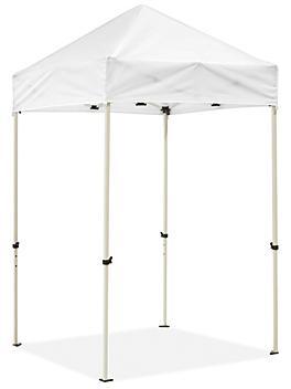 Steel Frame Canopy - 5 x 5', White H-9105