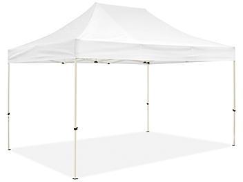 Steel Frame Canopy - 10 x 15', White H-9107