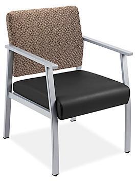 Downtown Guest Chair - Standard, Black/Brown H-9131BL/BR