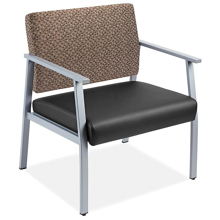 Downtown Guest Chair - Oversized, Black/Brown H-9132BL/BR