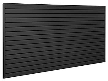 Industrial PVC Slatwall Kit - 4 x 8', Black H-9138BL