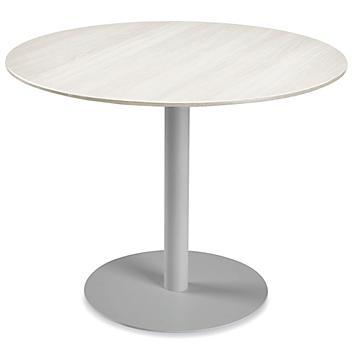 "Deluxe Café Table - 42"" Diameter, White Wood H-9176W"