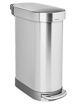 simplehuman<sup>&reg;</sup> Slim Step-On Stainless Steel Trash Can - 12 Gallon