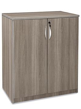 Laminate Storage Cabinet - 3-Shelf, Gray H-9188