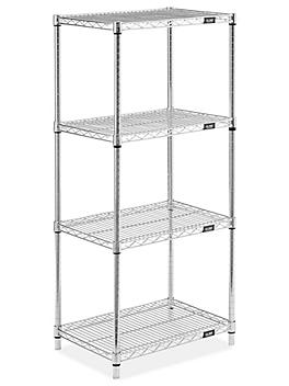 """Stainless Steel Wire Shelving Unit - 24 x 18 x 54"""" H-9203"""
