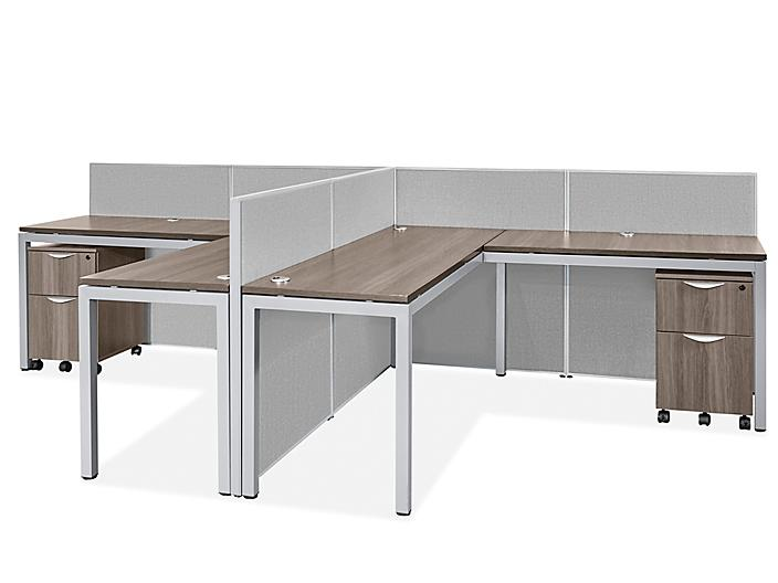 Downtown Privacy Workstation - 2-Person